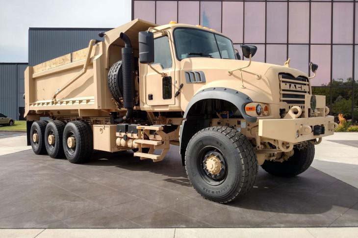 The M917A3 truck is a militarized version of the Mack Granite