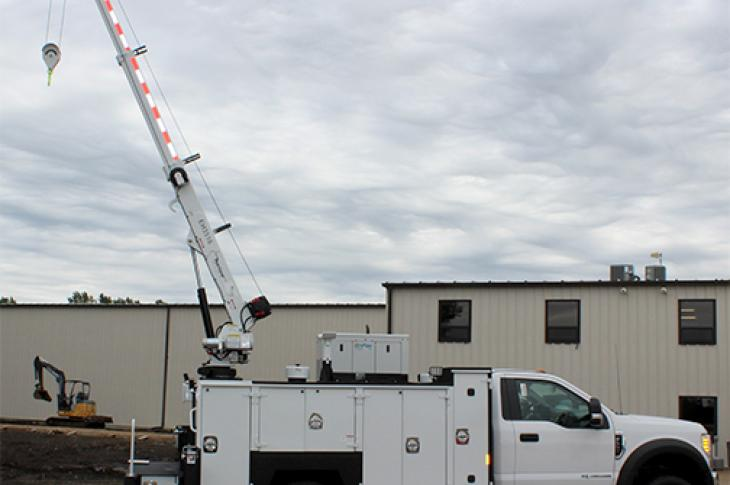 16-foot Maintainer crane has a 15,000 lb.-ft. rating