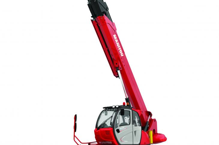 Manitou MRT 3050 rotating telehandler can lift up to 5.5 tons