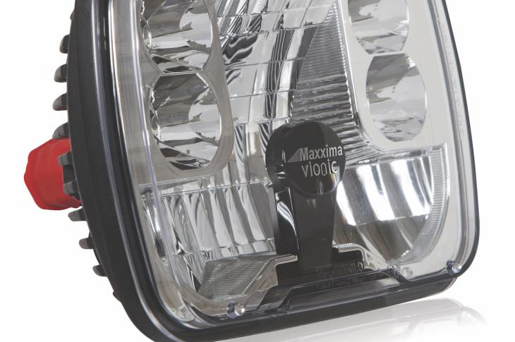 MaxxHeat series of LED headlamps and stop/tail/turn lights feature a microprocessor that automatically initiates the lens-heating system when the outside air temperature drops below 50 F, which, according to the company, can resolve the issue of snow and ice buildup on the lens surface due to the lack of heat produced by LEDs compared to other lamps.