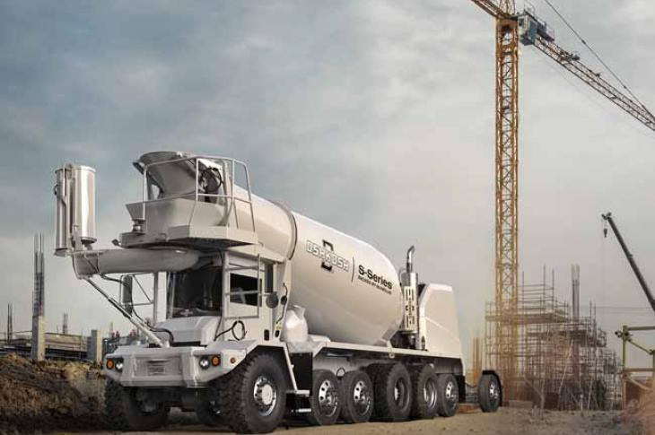 McNeilus has upgraded its S Series front-discharge concrete mixer truck