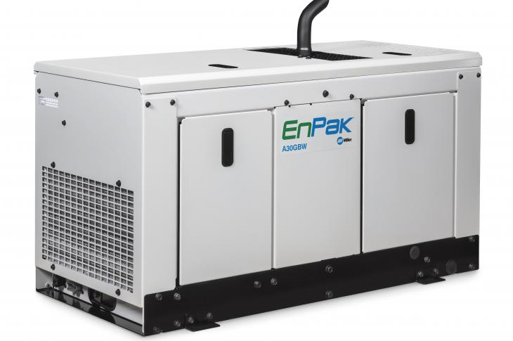 The EnPak A30GBW all-in-one power system is now available in a gas model.