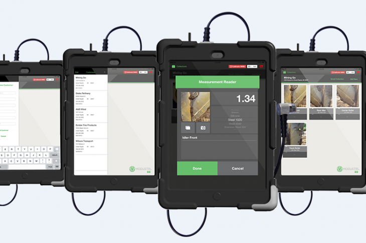Modustri SS iPad App for Ultrasonic Data Acquisition, Management