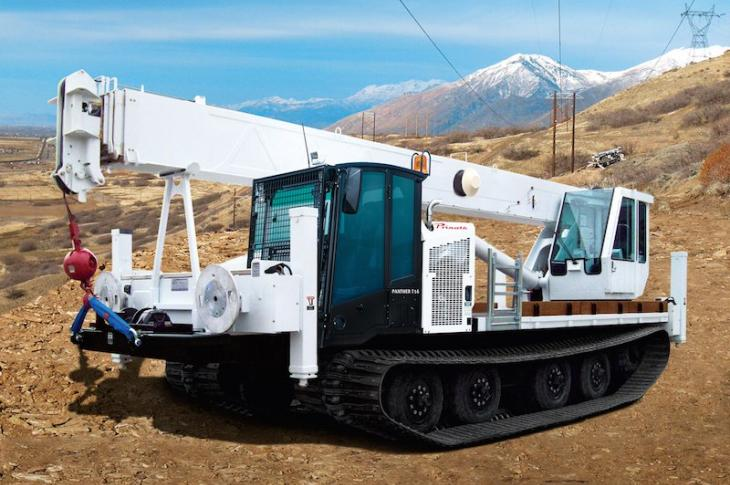Prinoth Panther T16 Tracked Carrier Hauls Attachments With Low PSI