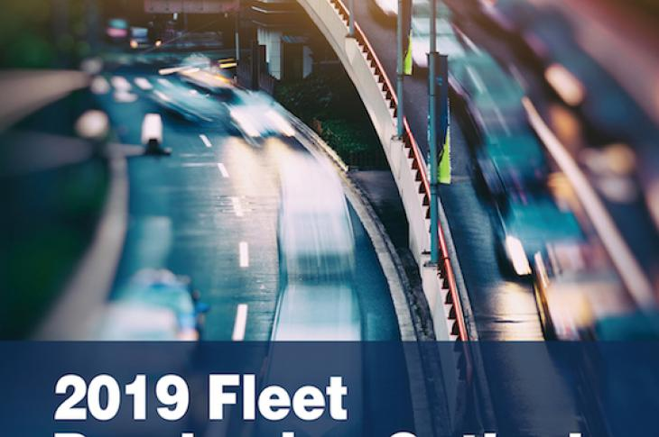 Front pamphlet on the Fleet Purchasing Outlook by NTEA.