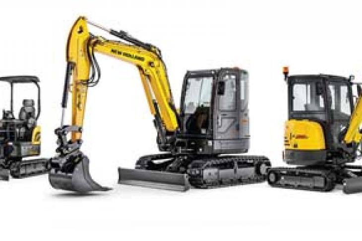 New Holland Construction's six new models delivers a more complete mini excavator offering
