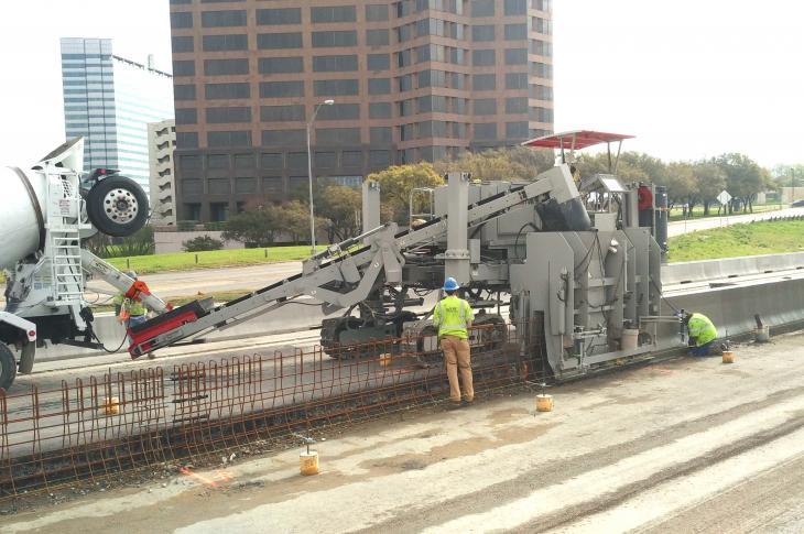 Power Pavers 7700 paver is capable of 12-foot-wide offset paving and up to 20-foot-wide conventional paving.