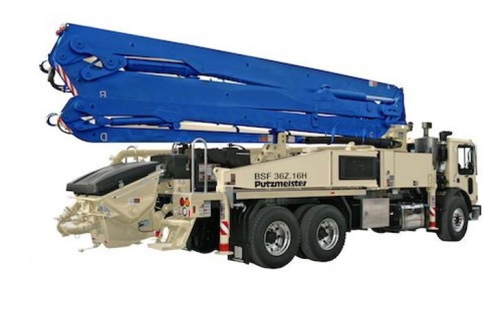 Putzmeister 36Z-Meter Concrete Pump Carries More Payload