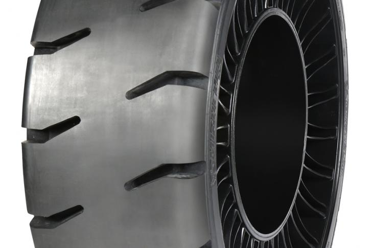 Michelin Tweel Technologies has introduced a Hard Surface Traction version of its 12N16.5 X Tweel SSL Airless Radial Tire.