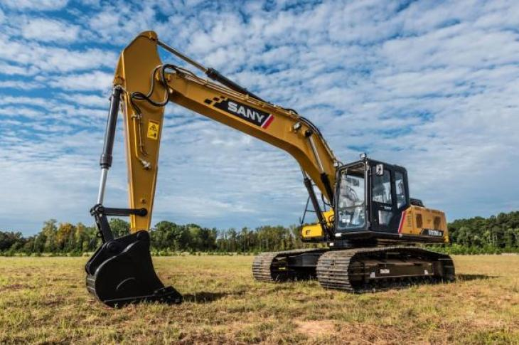 Sany SY215C excavator is equipped with telematics to transmit machine data