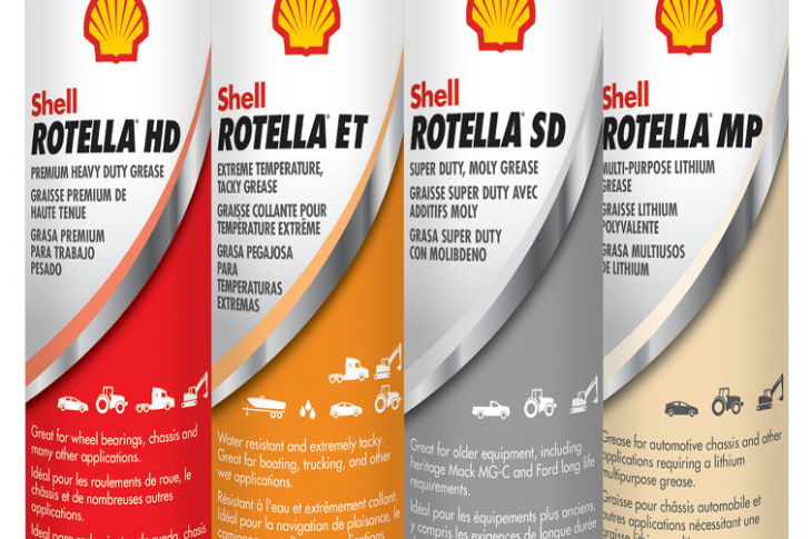 Rotella greases come in four varieties: HD, SD, MP, and ET.