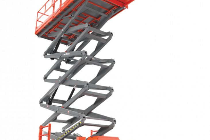 Skyjack SJ9253 scissor lift has a working height of 59 feet.