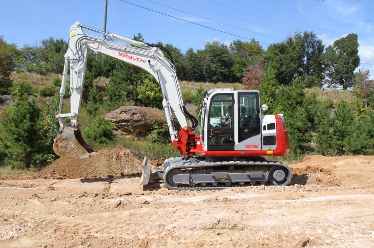 Takeuchi TB2150 excavator replaces the TB1140 Series 2