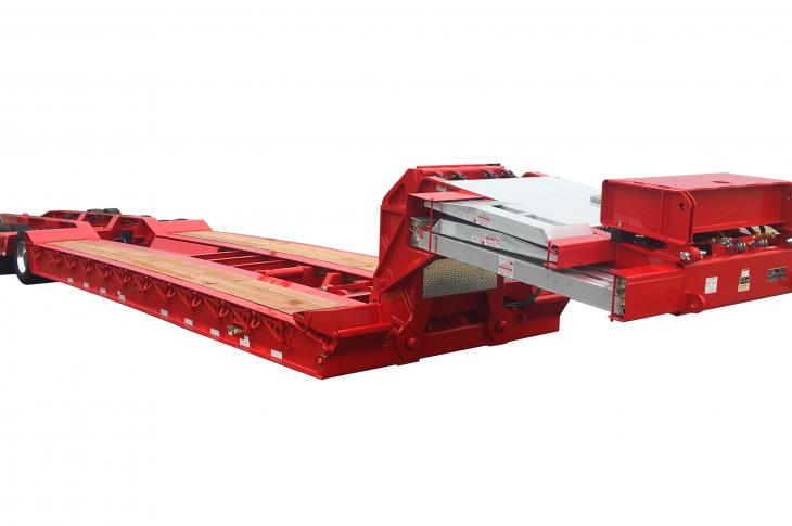 Talbert 50CC-BH Trailer allows loading equipment from either the front or rear