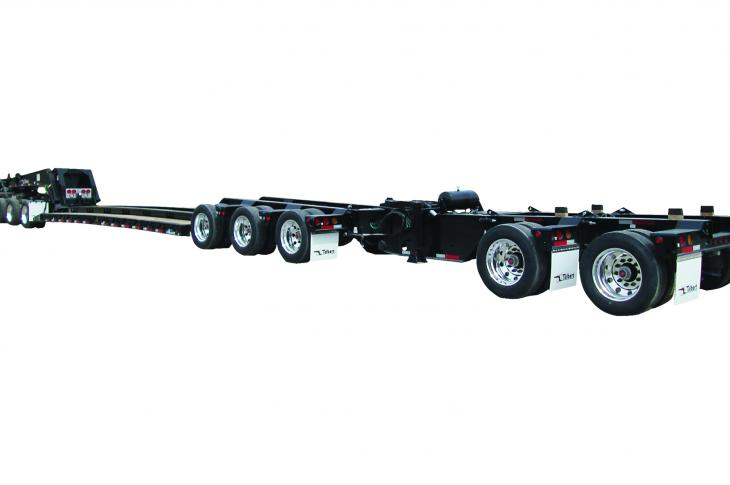 """Talbert 60/65SA trailer is designed to accommodate both tri-axle and tandem-axle """"jeeps"""""""