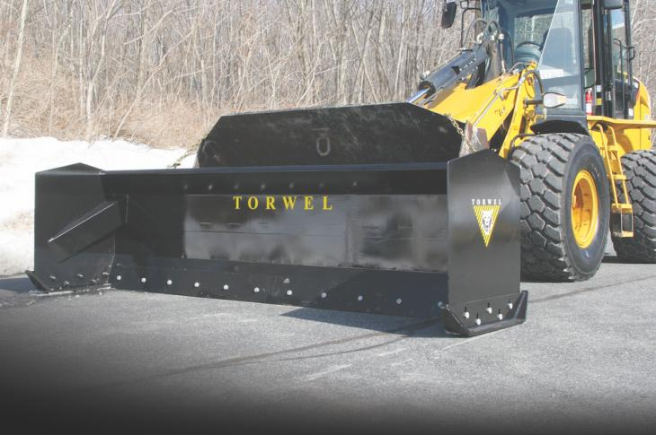 Heavy-Duty Snow Pushers are available in 8-foot through 18-foot widths.
