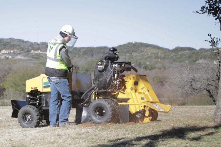 The Vermeer SC382 stump cutter has a redesigned cutter wheel