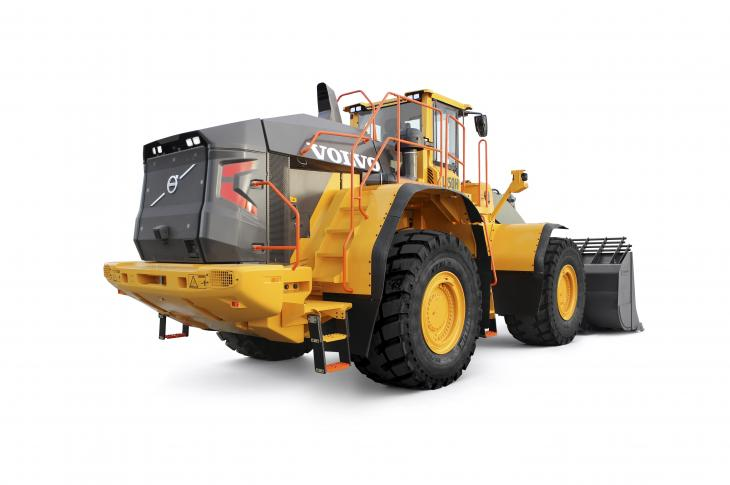 Volvo L350H wheel loader has been redesigned and delivers up to 10 percent better fuel efficiency