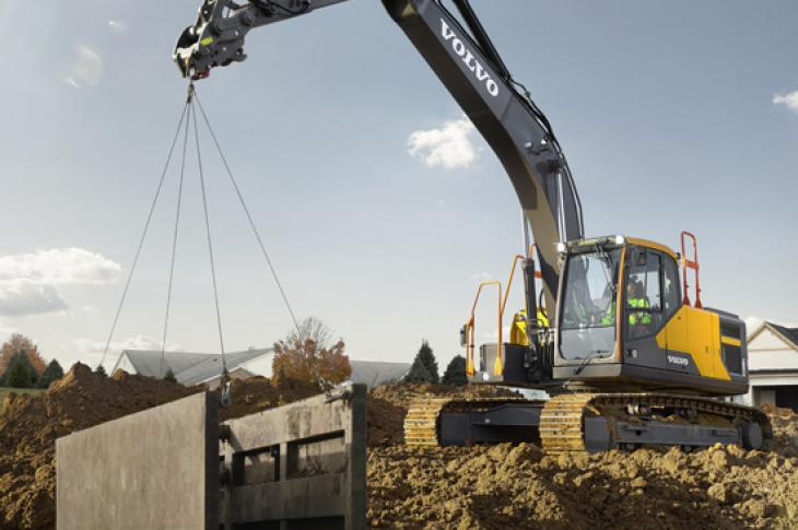 Volvo EC200E excavator is in the 20 ton class