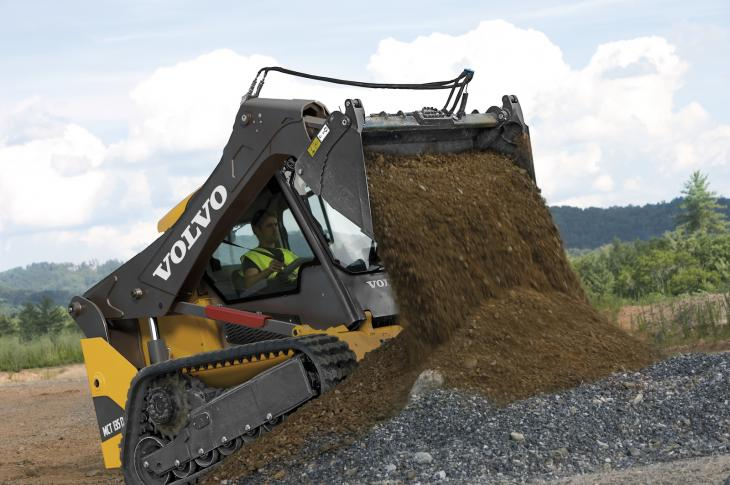 Volvo MCT135D loader has a rated operating capacity of 3000 pounds
