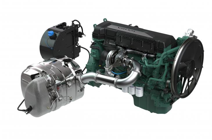 The 13L TAD1381-1385VE is a six-cylinder unit with maximum output of 551 horsepower at 1,900 rpm, and the 5L TAD580-582VE is a four-cylinder unit with a maximum output of 218 horsepower at 2,200 rpm.