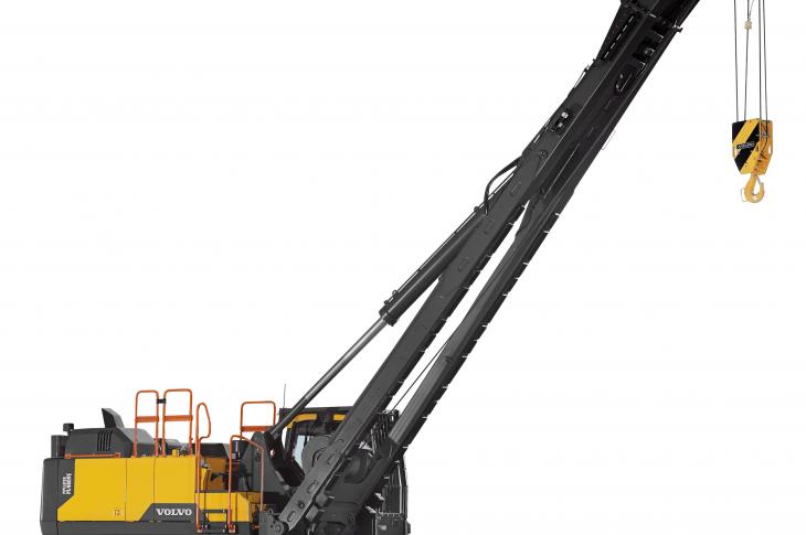 Volvo PL4809E pipelayer has a tipping capacity of 242,000 pounds