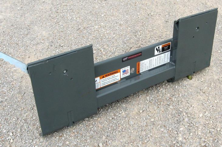Worksaver Mini Universal to Standard Skid Steer Adapter Allows Attachment Switches