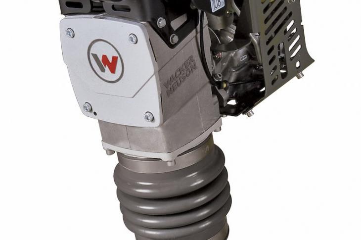 Wacker Neuson BS70-4As vibratory plate compactor has a 3.6-horsepower Honda GXR120 engine