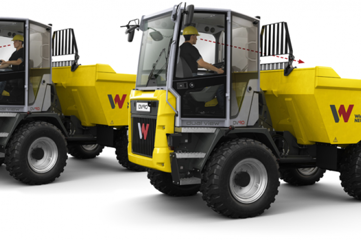 Wacker Neuson DV Series site dumpers have a console that swivels 180 degrees.