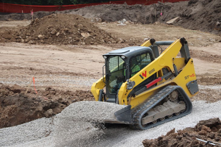 Wacker Neuson ST45 compact track loader lifts 10,267 pounds