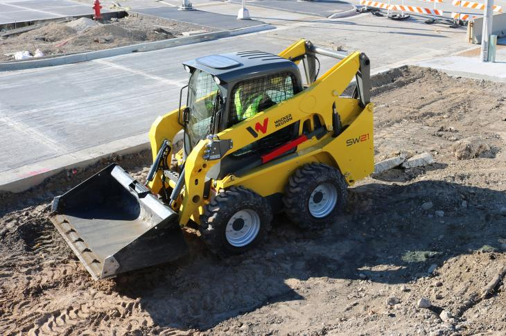 Wacker Neuson line of medium-frame skid steer and compact track loaders includes four skid steer and two CLTs.