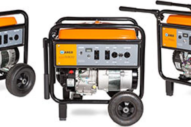 The Wanco WGC Series of commercial-grade generators includes three models—WGC3800, WGC5300, and WGC7500E—and features Kohler Command PRO engines.