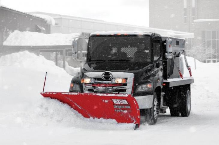 The Pro Plus HD straight-blade plow is designed for heavy contractor jobs and municipal applications.