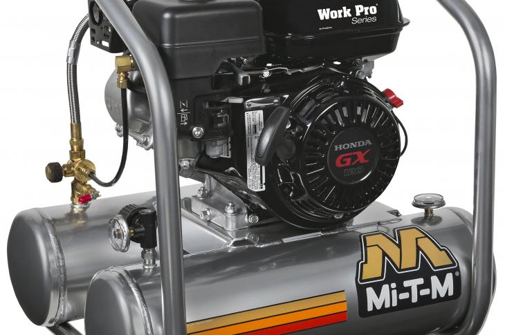 Mi-T-M Work Pro Series Air Compressors Offer 5-Gallon and 8-Gallon Gasoline Models