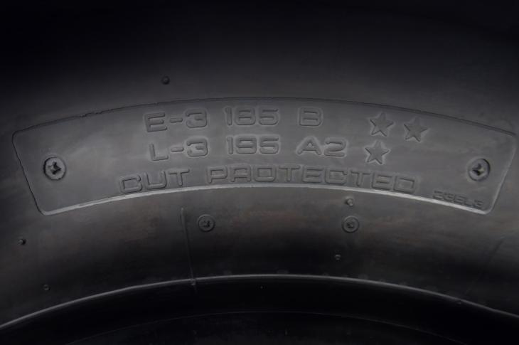 Yokohama dual marked tires accommodate both loader and transport applications with a single tire.