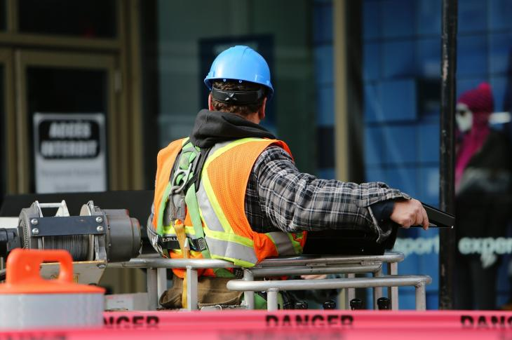 Construction worker on site.