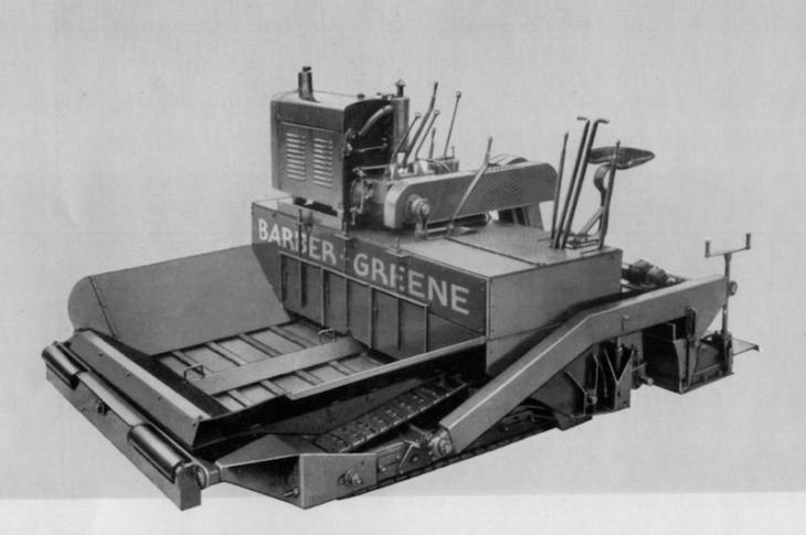 The Barber-Greene 879 Asphalt Paver