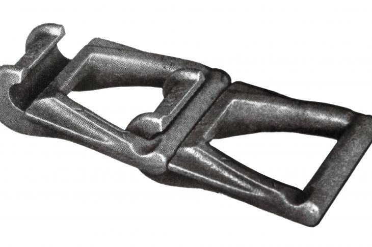 This detachable link chain was invented and patented by William Dana Ewart
