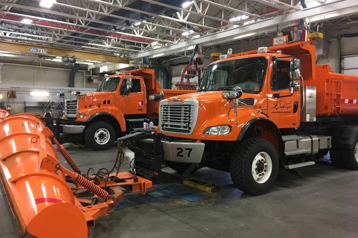 Dakota County's diverse fleet includes large snowplow and salt truck combinations.