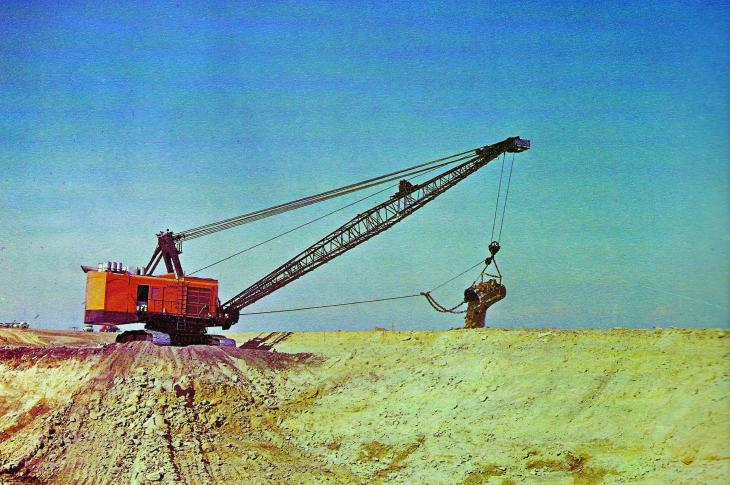 Marion 191M shovel used by Western Contracting