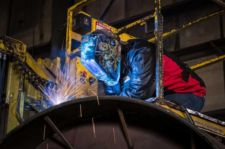 Welding helmets prevent eyes from getting damaged from the arc.