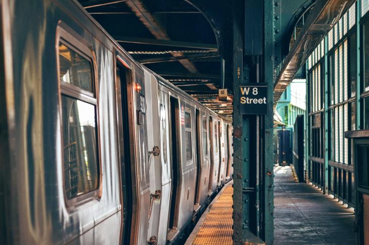 New York underground subway stop.
