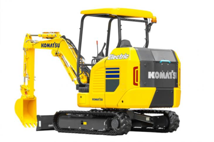 Komatsu's new electric mini excavator.