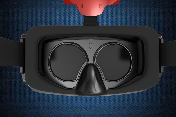 An inside view of virtual reality goggles.
