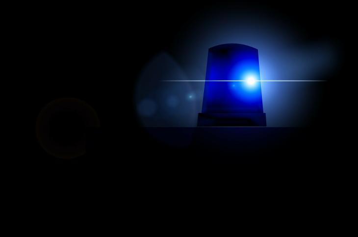 Police light.