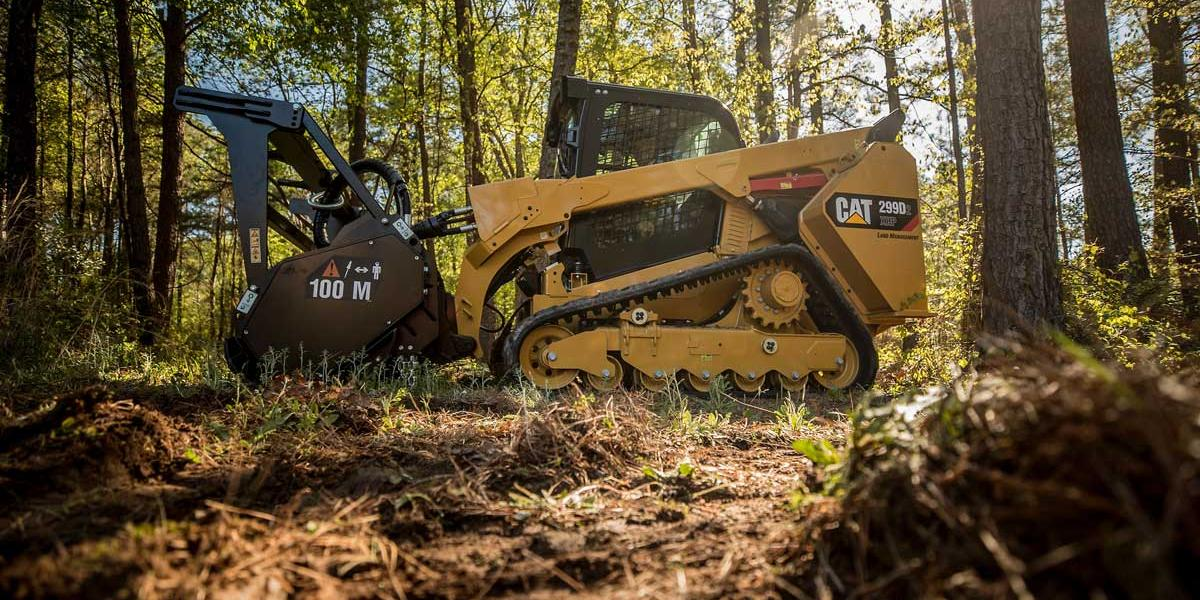The 299D2 XHP Land Management compact track loader is built specifically for this segment