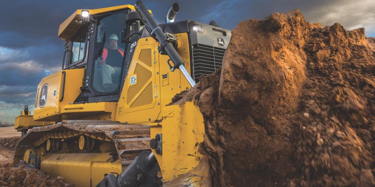 The Deere 850L is a 225-horsepower crawler dozer.