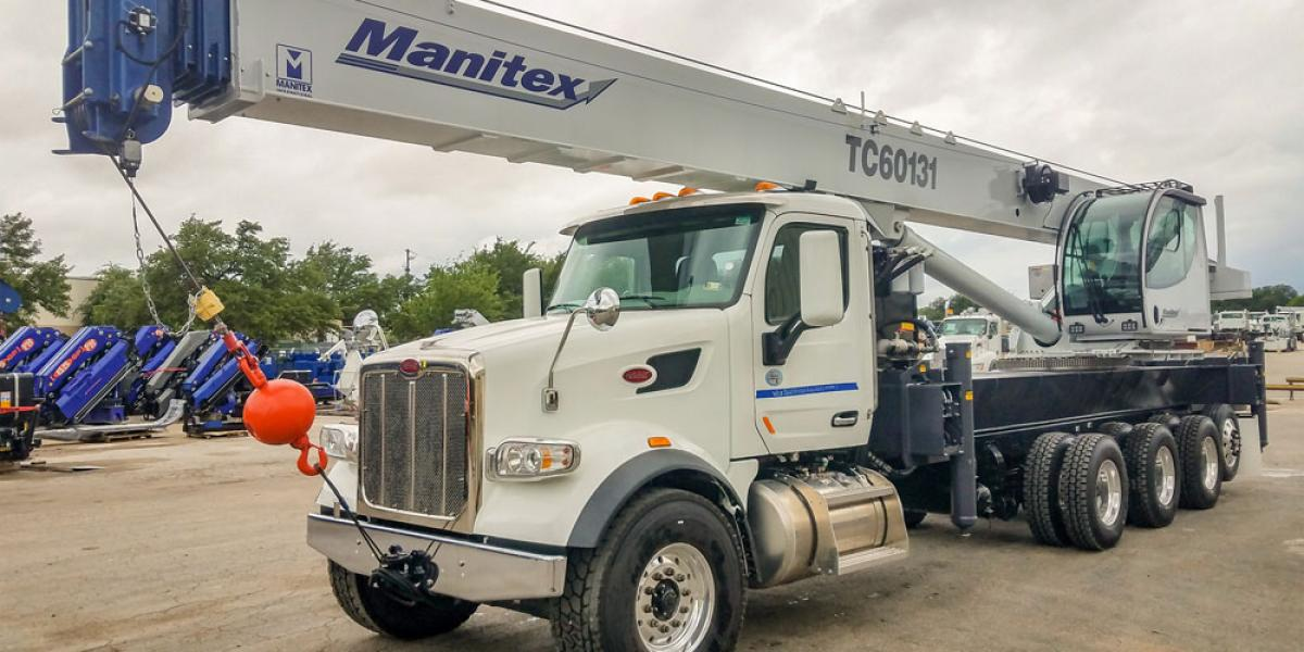 Manitex TC600 has been added to the updated TC series of boom trucks.