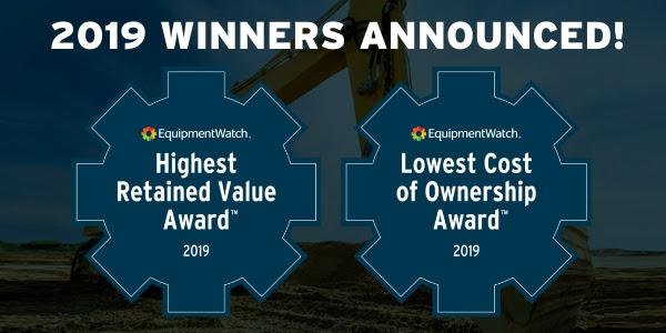 EquipmentWatch 2019 awards.