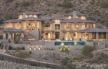 Exterior, dusk, of hillside home in Phoenix, Ariz. by Cullum Homes